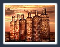 Bottles In Sunset