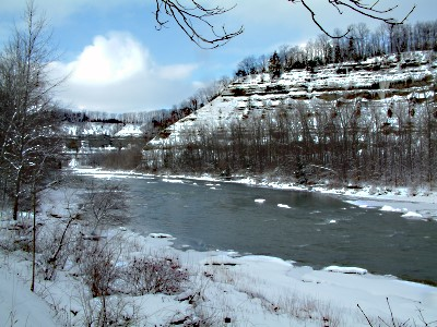 Zoar Valley in the Winter